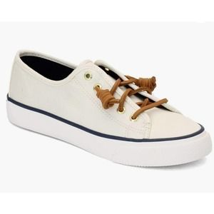 Sperry Top-Sider Seacoast Ivory Canvas Sneakers